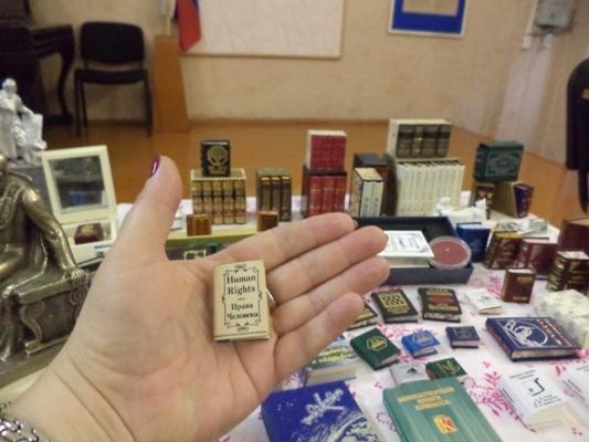 Сотрудники ИК-3 УФСИН России по Костромской области познакомились с миром миниатюрных книг